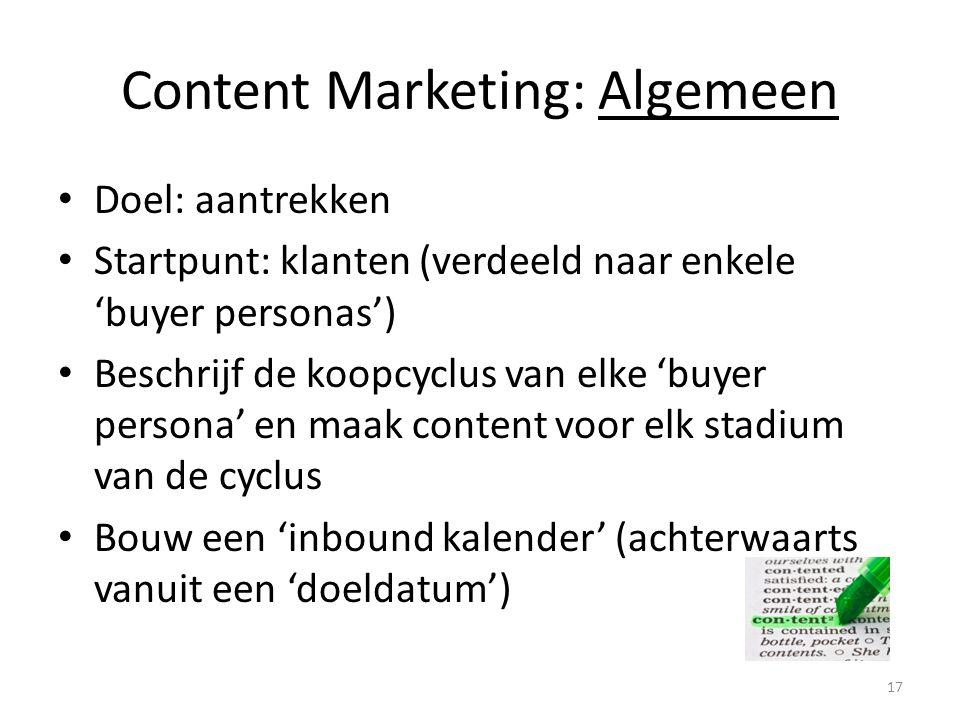 Content Marketing: Algemeen