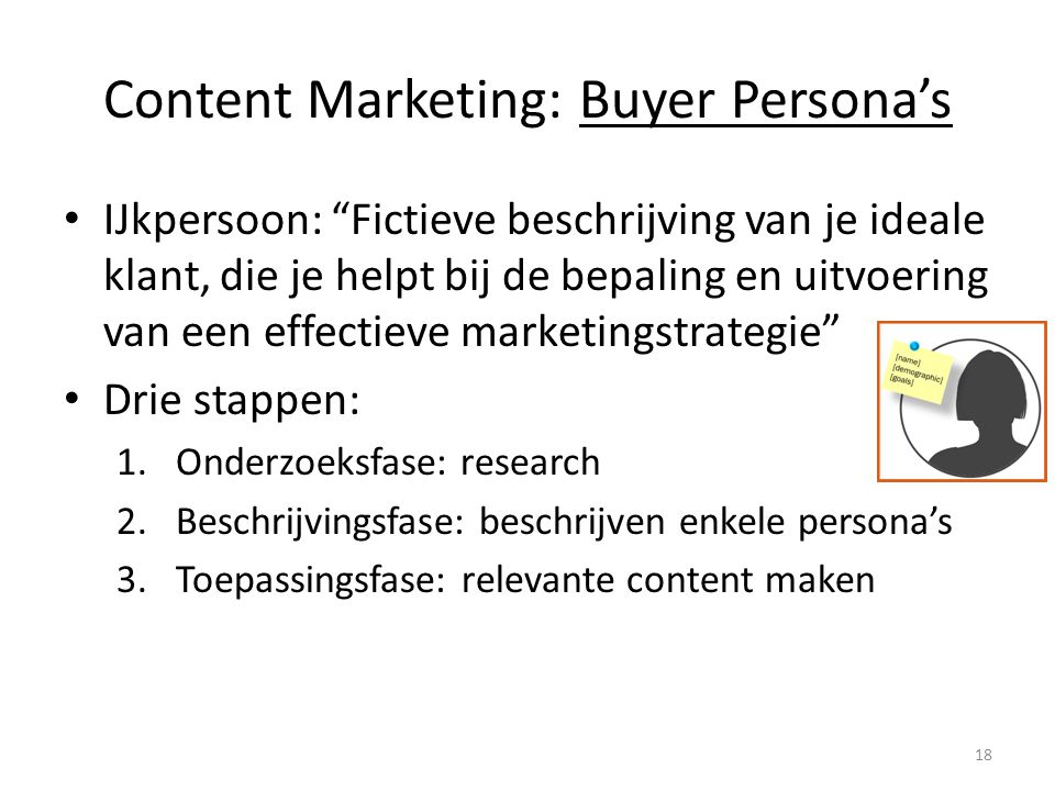 Content Marketing: Buyer Persona's