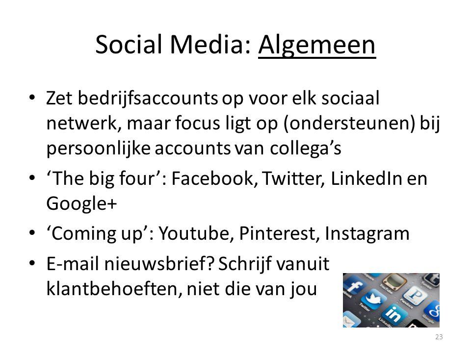 Social Media: Algemeen
