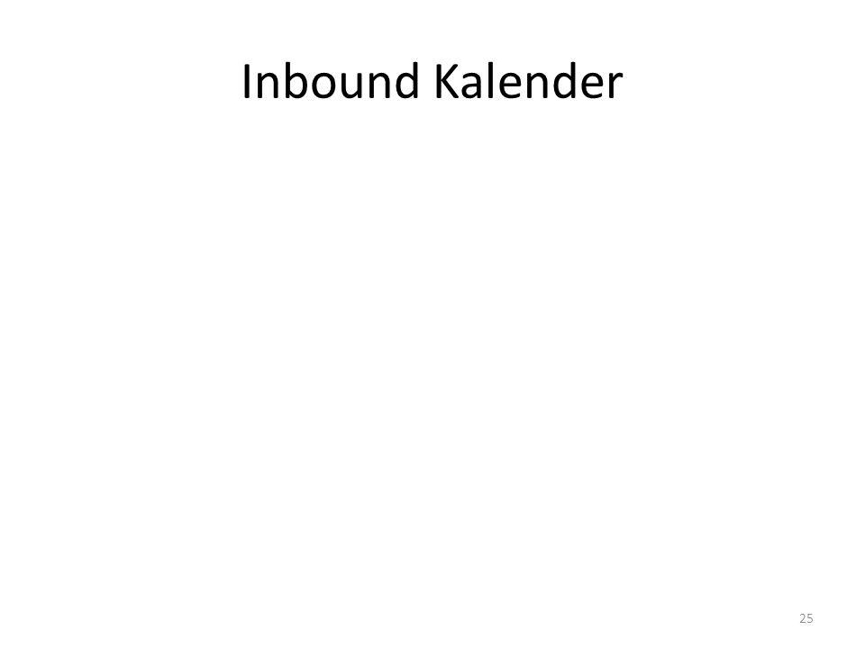 Inbound Kalender