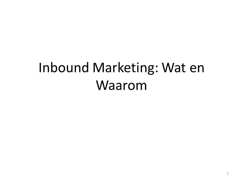 Inbound Marketing: Wat en Waarom