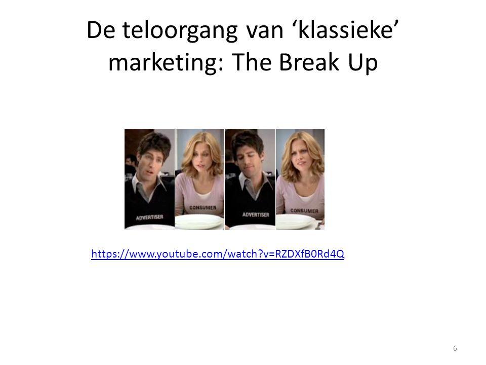De teloorgang van 'klassieke' marketing: The Break Up