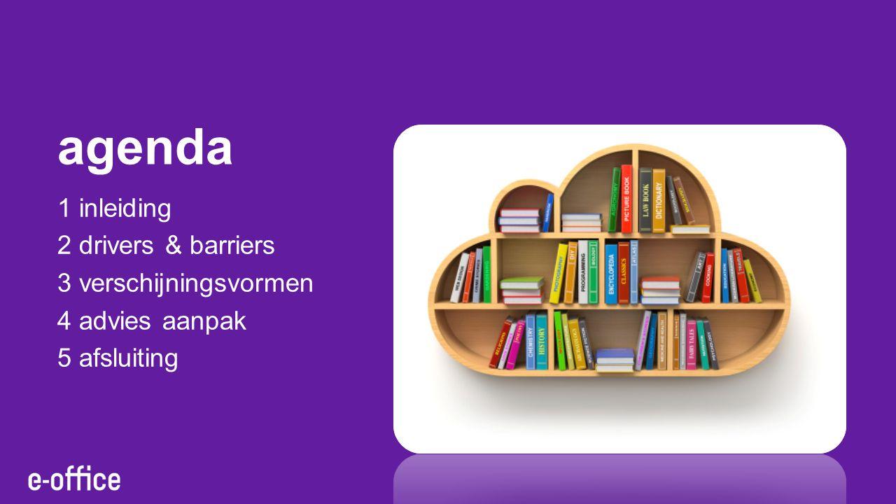 agenda 1 inleiding 2 drivers & barriers 3 verschijningsvormen