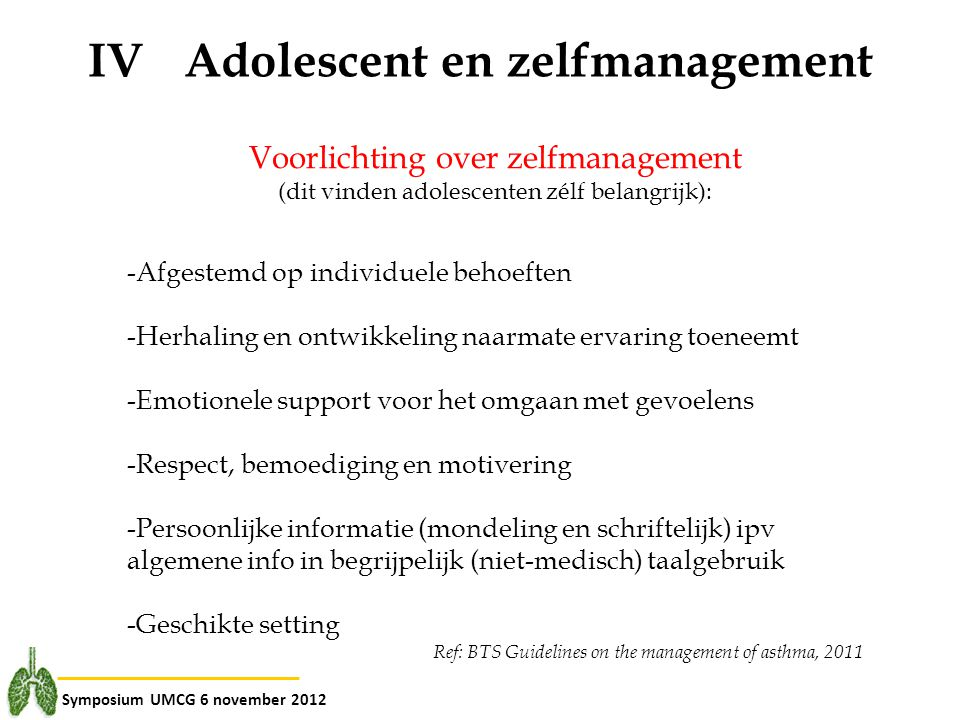IV Adolescent en zelfmanagement