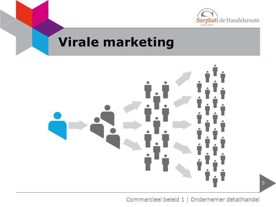 Virale marketing Commercieel beleid 1 | Ondernemer detailhandel