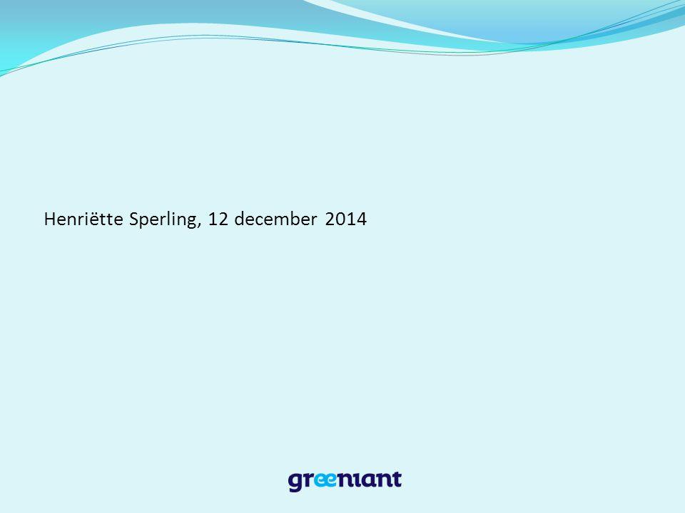 Henriëtte Sperling, 12 december 2014