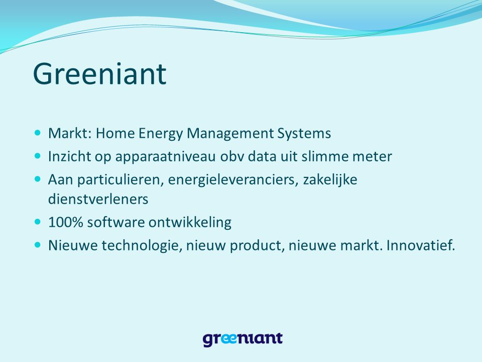 Greeniant Markt: Home Energy Management Systems