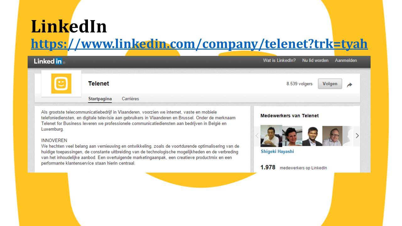 LinkedIn https://www.linkedin.com/company/telenet trk=tyah