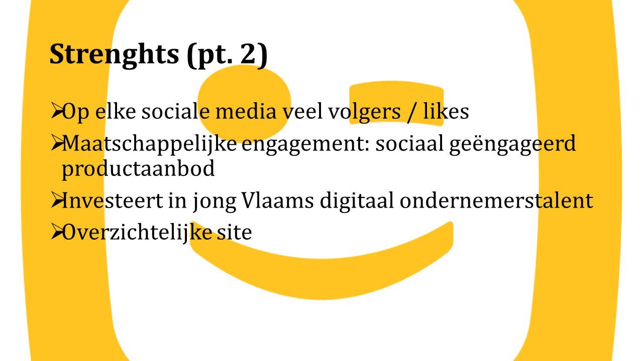 Strenghts (pt. 2) Op elke sociale media veel volgers / likes