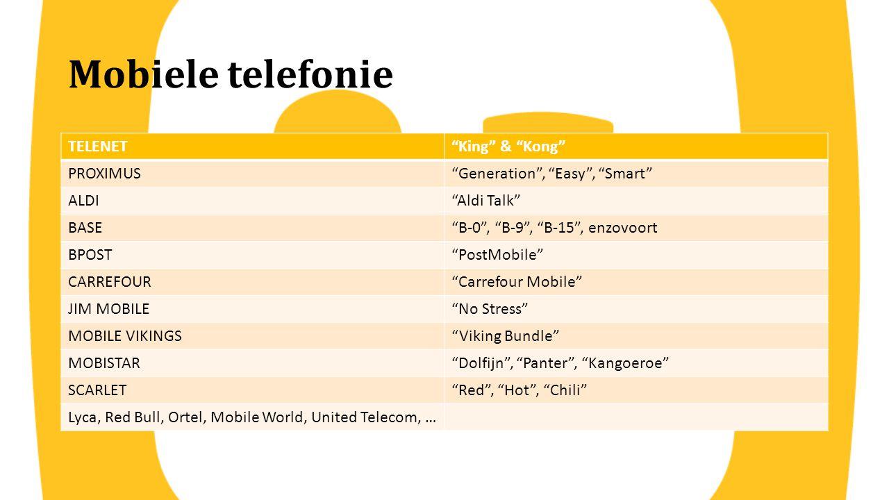 Mobiele telefonie TELENET King & Kong PROXIMUS