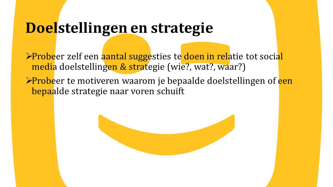 Doelstellingen en strategie