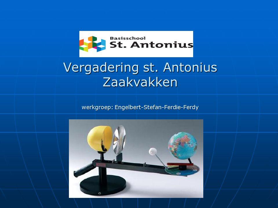 Vergadering st. Antonius Zaakvakken werkgroep: Engelbert-Stefan-Ferdie-Ferdy