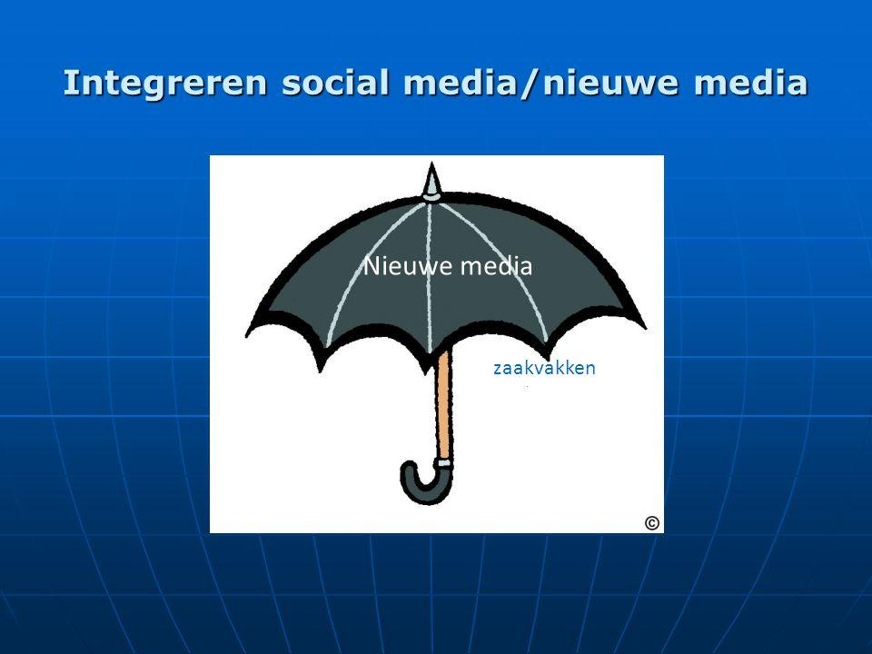 Integreren social media/nieuwe media