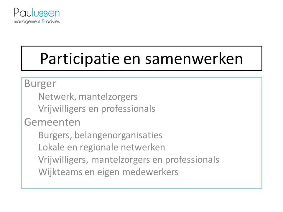Participatie en samenwerken