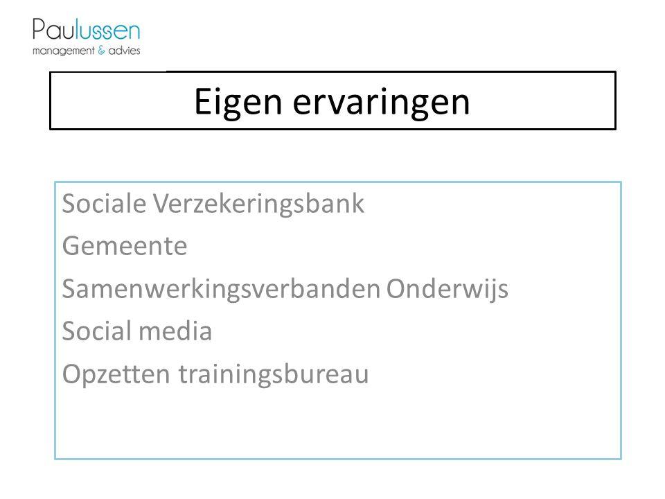 Eigen ervaringen Sociale Verzekeringsbank Gemeente