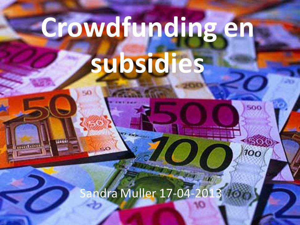 Crowdfunding en subsidies
