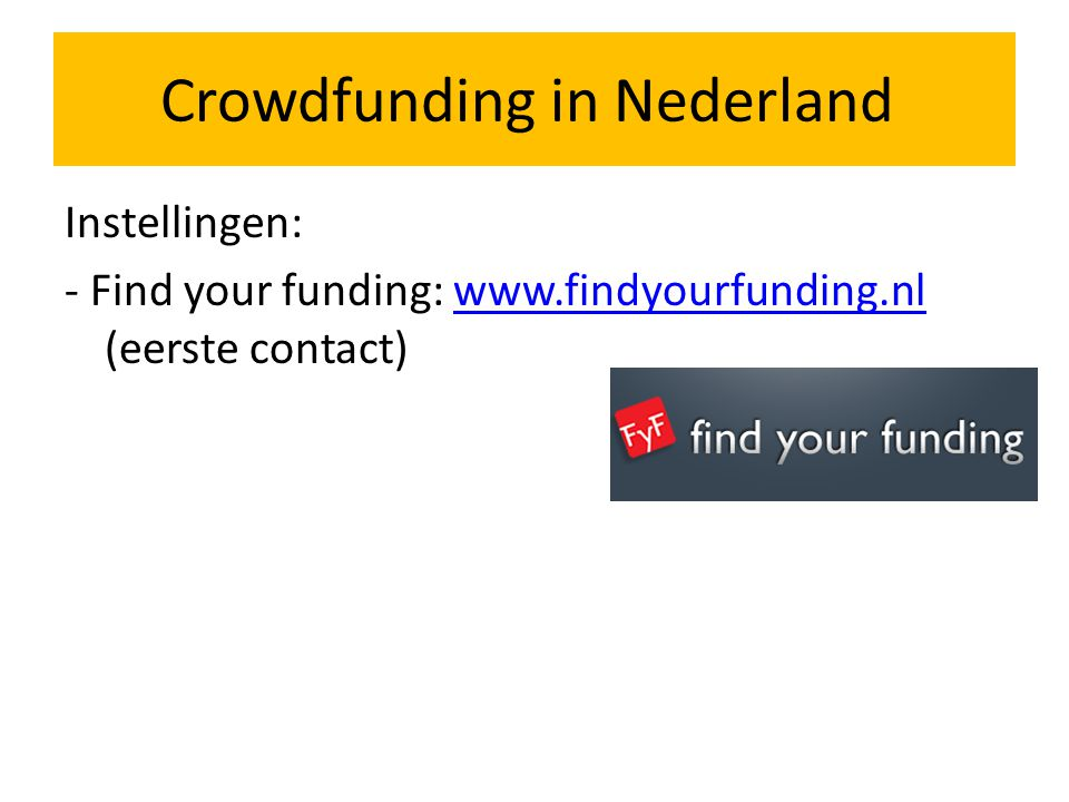 Crowdfunding in Nederland