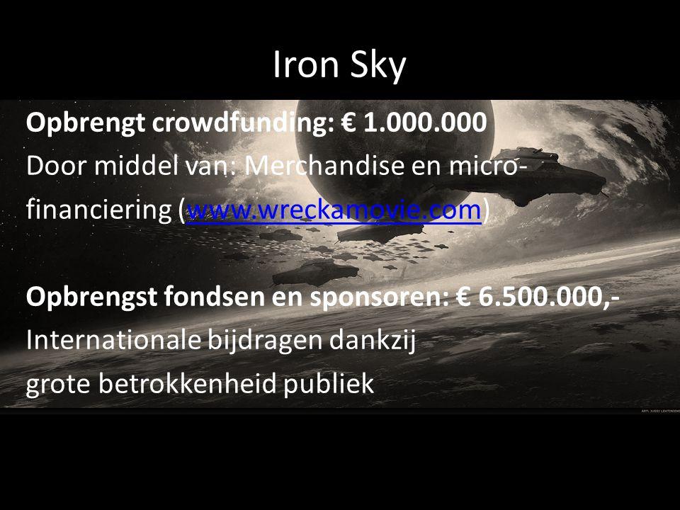 Iron Sky Opbrengt crowdfunding: € 1.000.000
