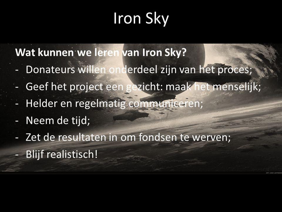 Iron Sky Wat kunnen we leren van Iron Sky