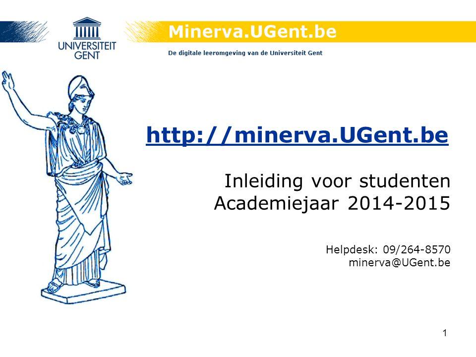 Inleiding voor studenten Academiejaar 2014-2015