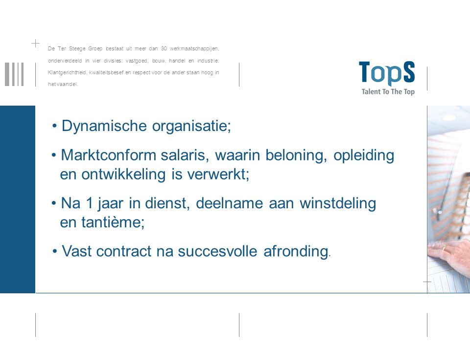 Vast contract na succesvolle afronding.