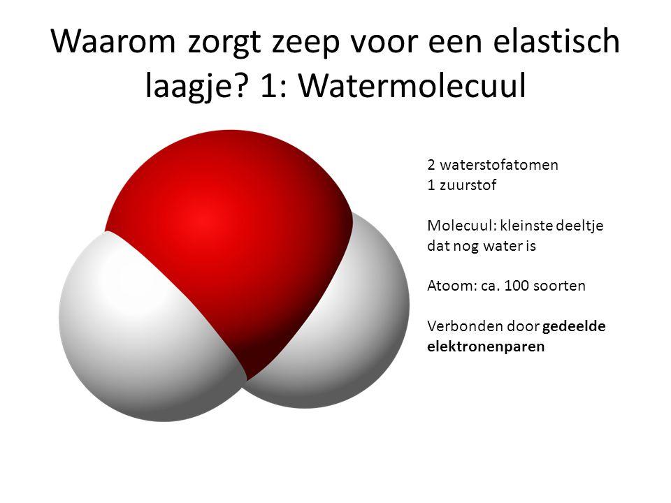 Waarom zorgt zeep voor een elastisch laagje 1: Watermolecuul