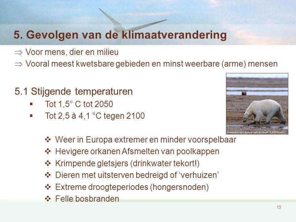 5. Gevolgen van de klimaatverandering