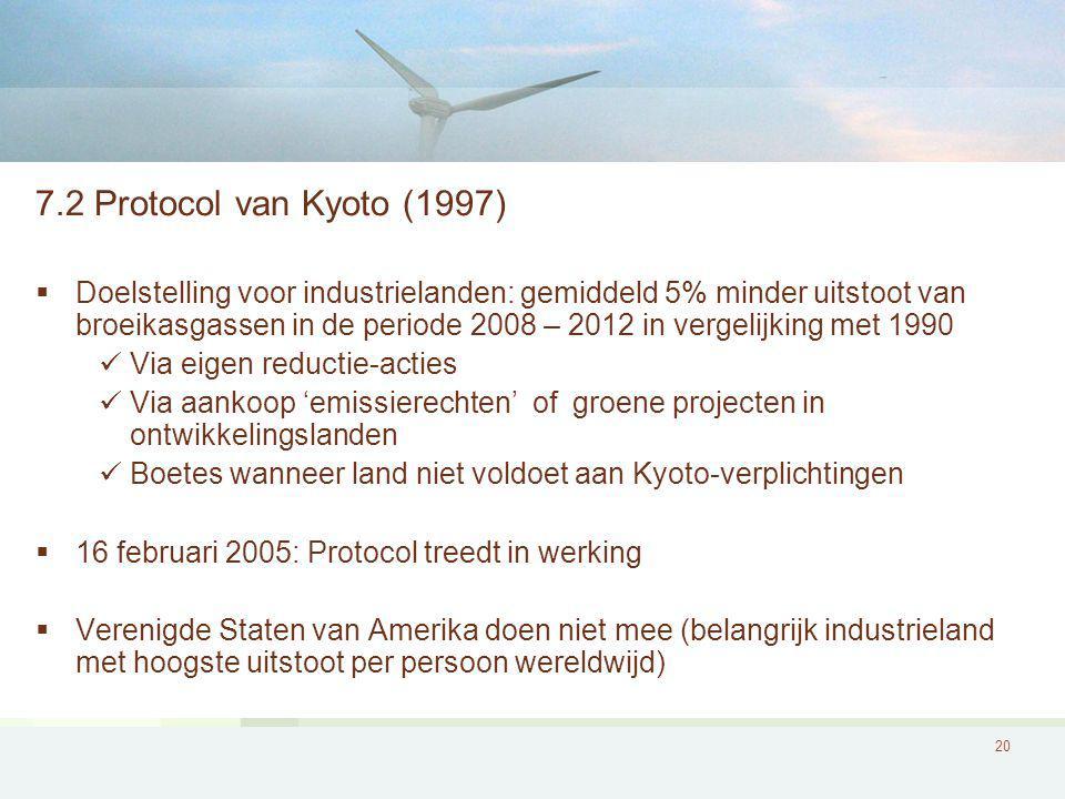 7.2 Protocol van Kyoto (1997)