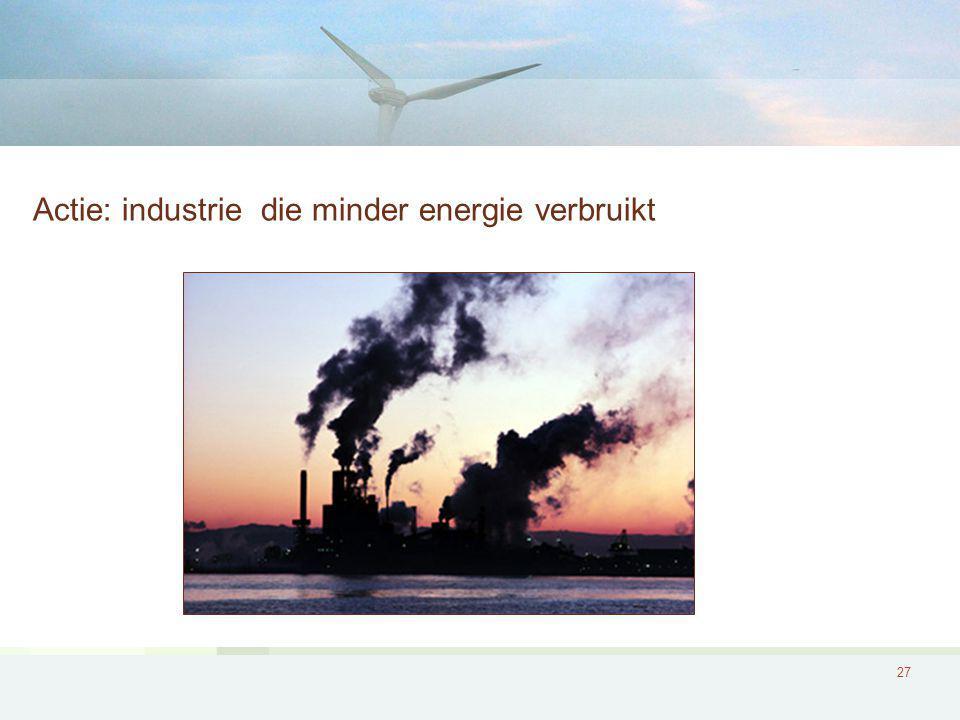 Actie: industrie die minder energie verbruikt
