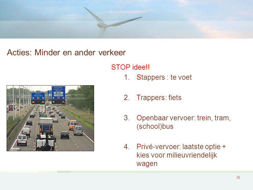 Acties: Minder en ander verkeer