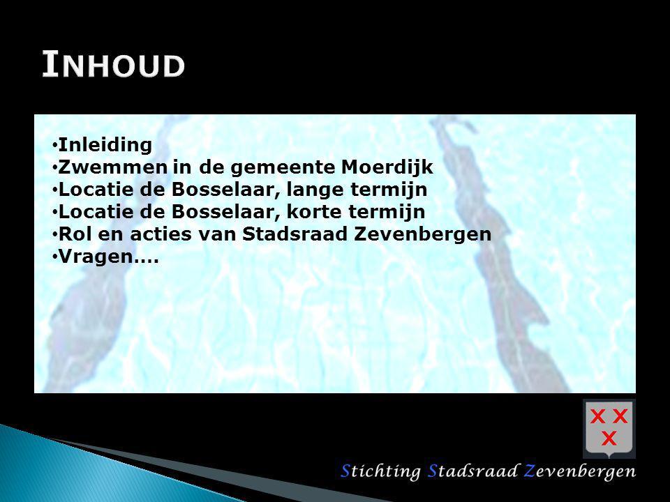 Inhoud Inleiding Zwemmen in de gemeente Moerdijk