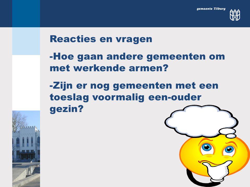 Reacties en vragen Hoe gaan andere gemeenten om met werkende armen.