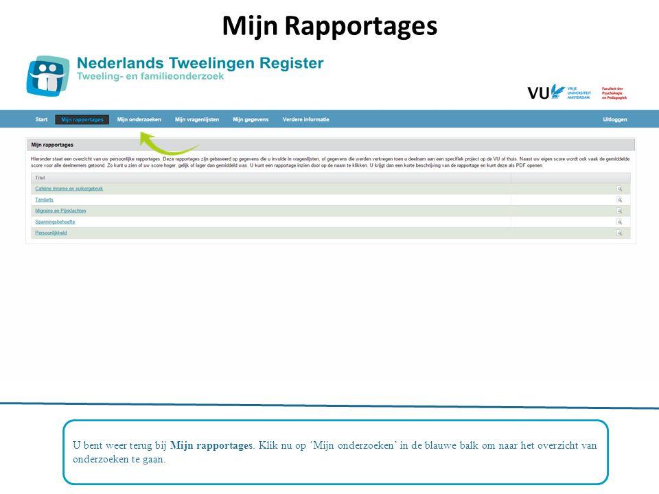 Mijn Rapportages