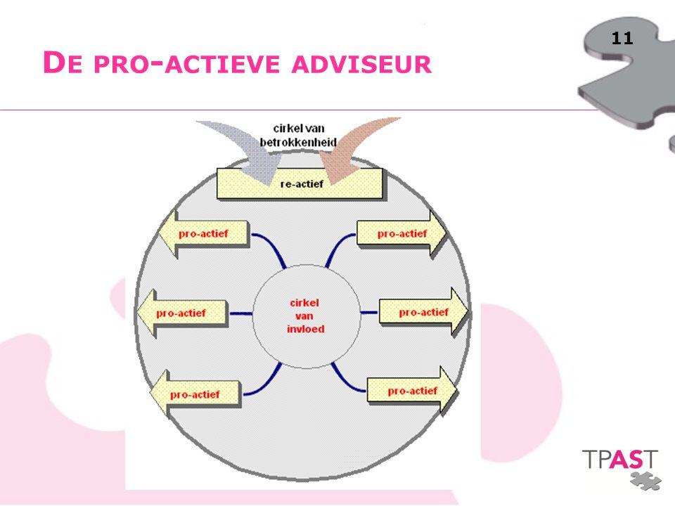 De pro-actieve adviseur