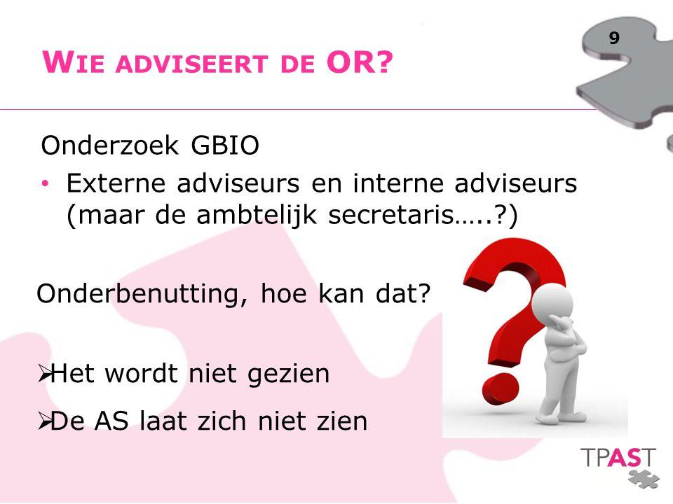 Wie adviseert de OR Onderzoek GBIO
