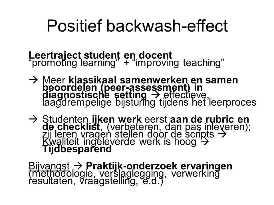 Positief backwash-effect