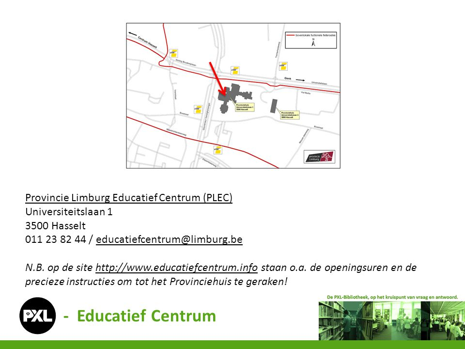 - Educatief Centrum Provincie Limburg Educatief Centrum (PLEC)