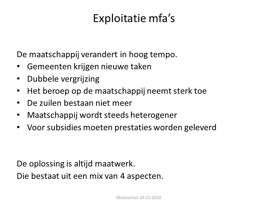 Exploitatie mfa's De maatschappij verandert in hoog tempo.