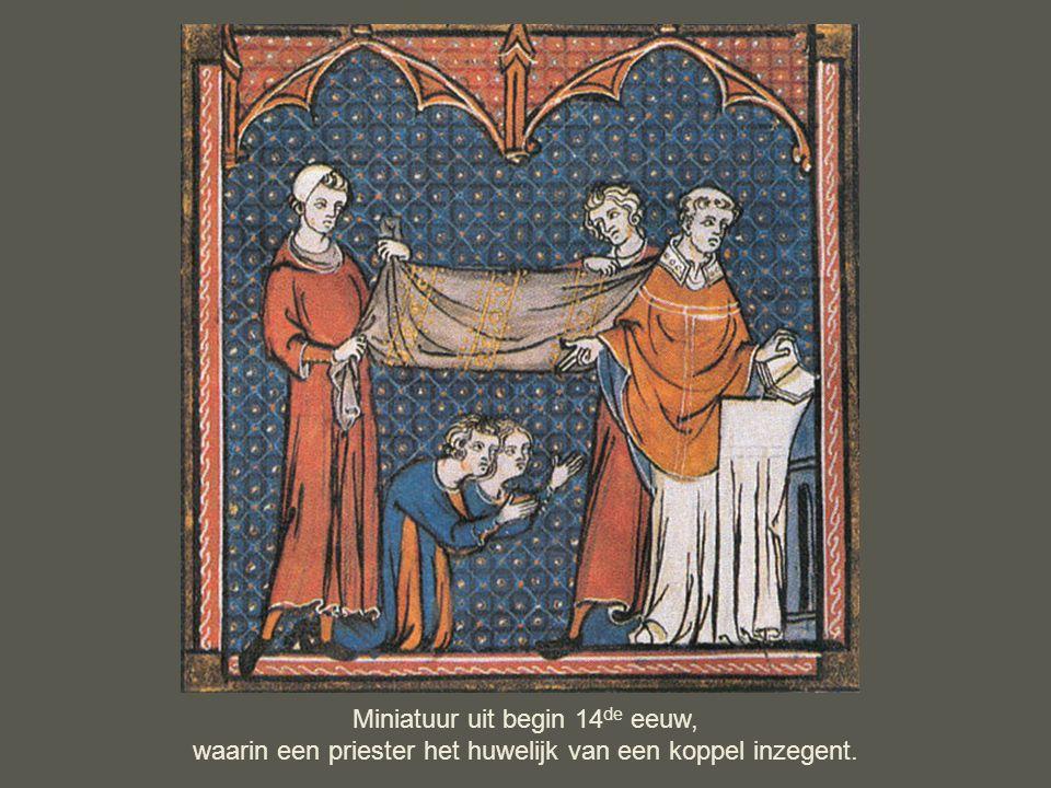 Miniatuur uit begin 14de eeuw,
