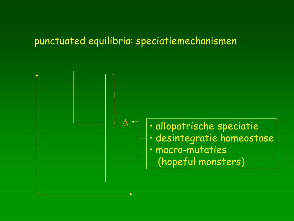 punctuated equilibria: speciatiemechanismen