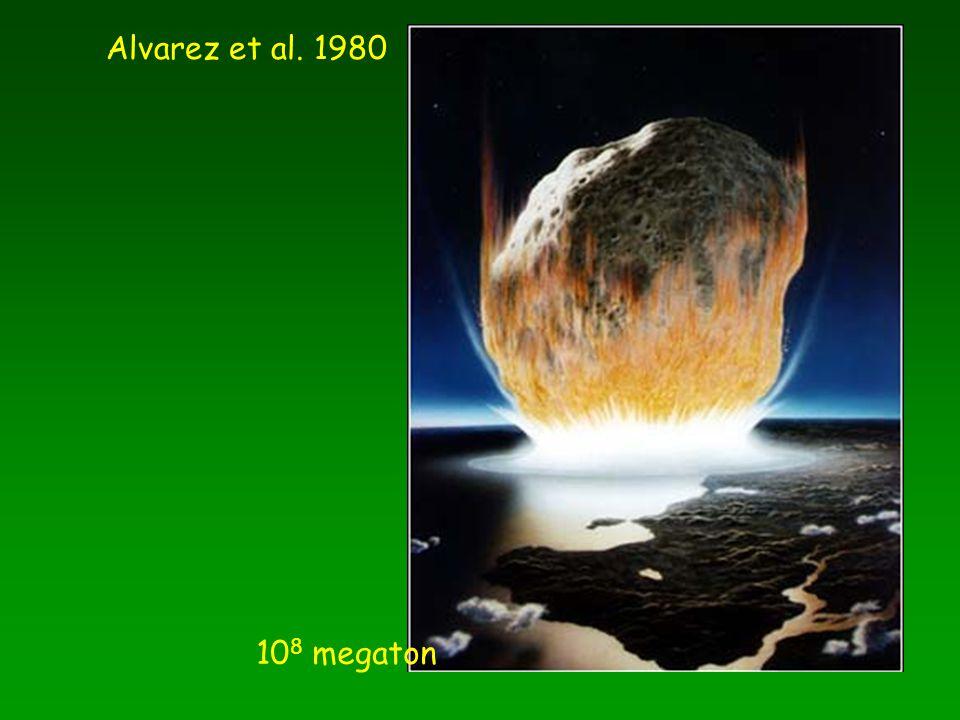 Alvarez et al. 1980 108 megaton