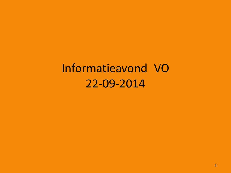 Informatieavond VO 22-09-2014 1