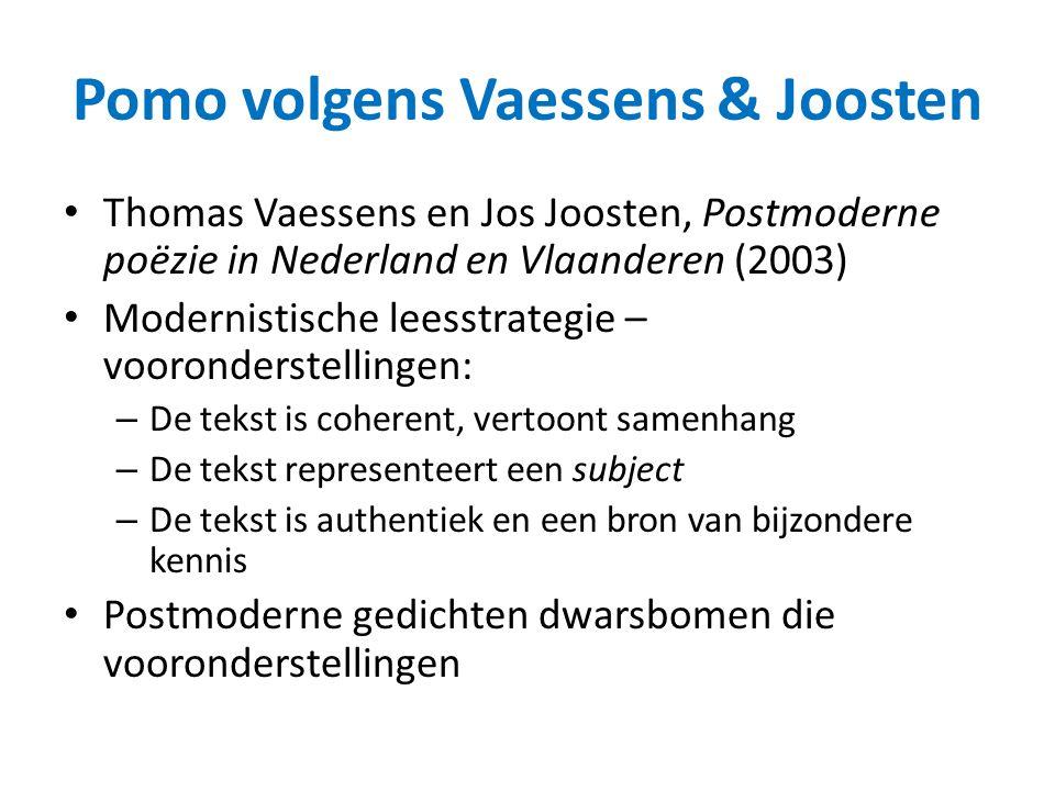 Pomo volgens Vaessens & Joosten