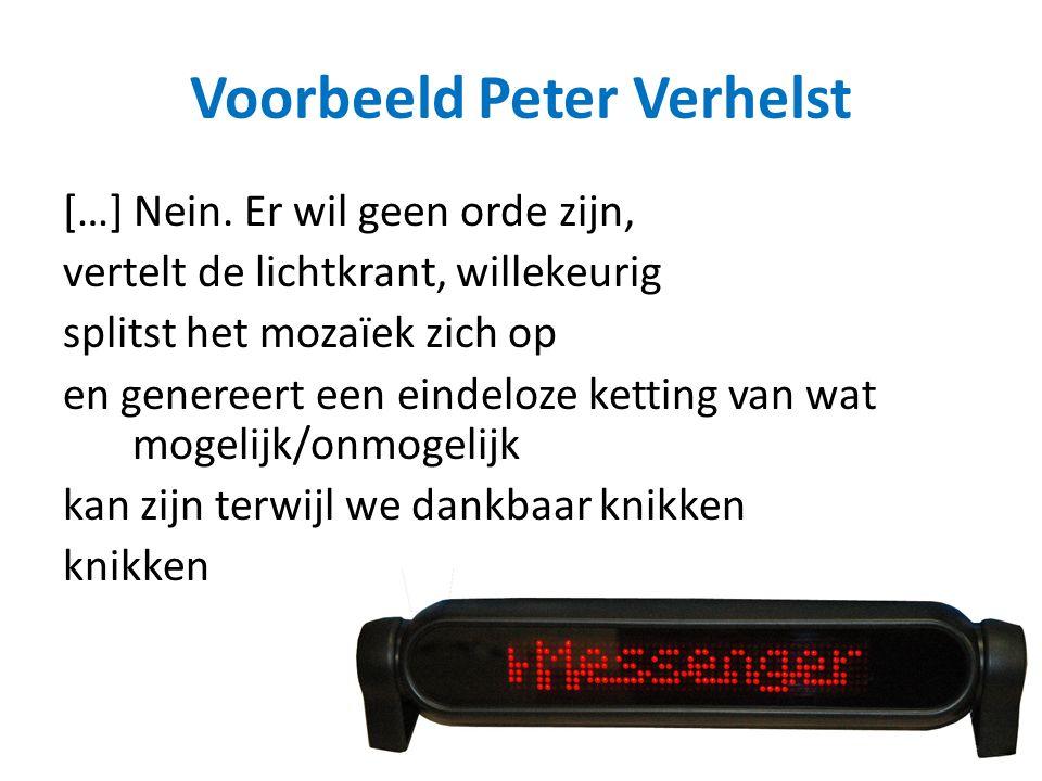 Voorbeeld Peter Verhelst