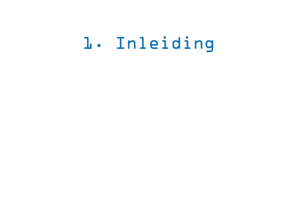 1. Inleiding