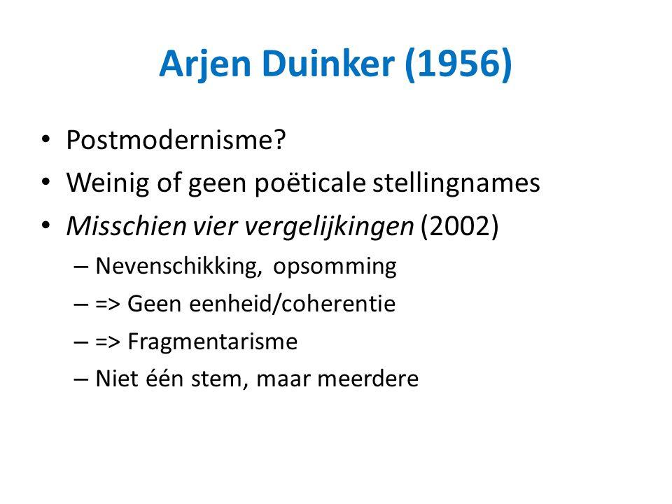Arjen Duinker (1956) Postmodernisme