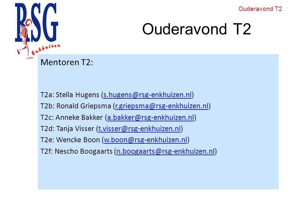 Ouderavond T2 Mentoren T2: