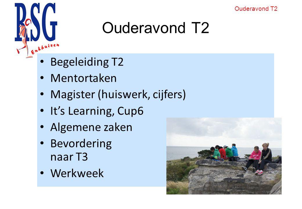 Ouderavond T2 Begeleiding T2 Mentortaken Magister (huiswerk, cijfers)