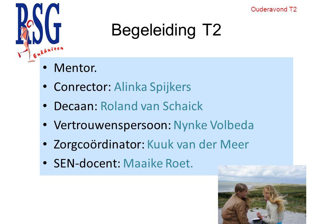 Begeleiding T2 Mentor. Conrector: Alinka Spijkers