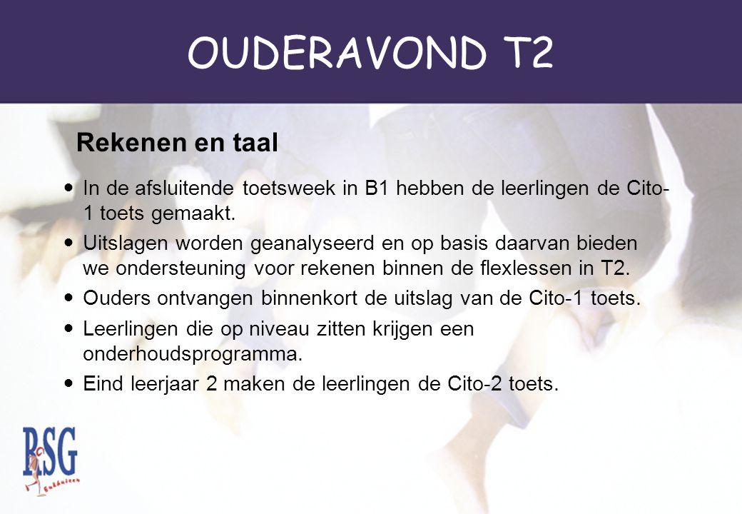 OUDERAVOND T2 Rekenen en taal
